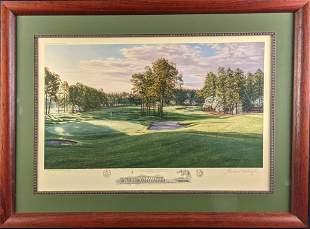 Framed Linda Hartough AP Litho Pinehurst Resort &