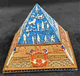 Veronese Trinket Jewelry Three Part Egyptian Pyramid
