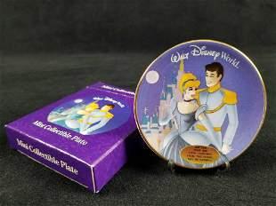 Cinderella Prince Charming Mini Collectible Plate Walt