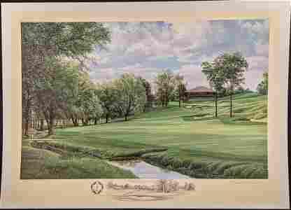 Linda Hartough Artist Proof Litho Muirfield Village