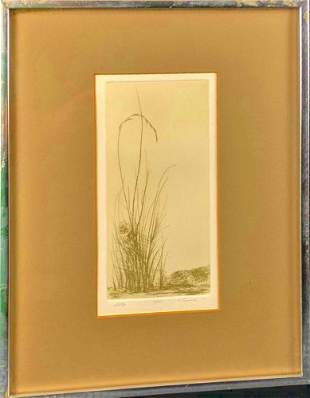 Etching Print Lessnick Signed Numbered Hill Top
