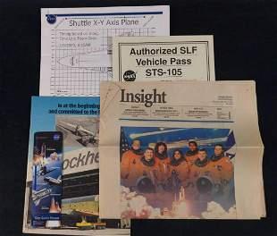 Lockheed Booklet And NASA Photo Newspaper Lot