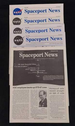 Five NASA Spaceport News Newspapers
