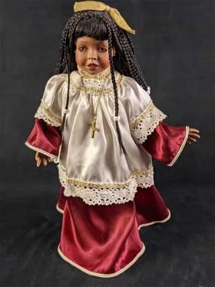 Cindy Shafer Porcelain Amazing Grace Music Box Doll