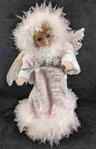 Animated Music Box Angel Porcelain Doll