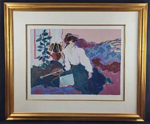 Limited Edition Signed Dufy Serigraph Musicienne