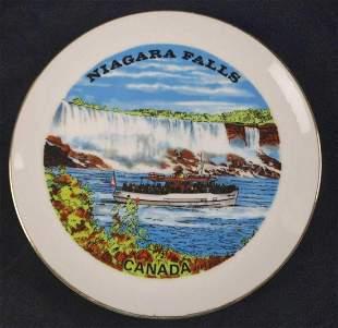 Vintage Porcelain Niagara Falls Canada Plate