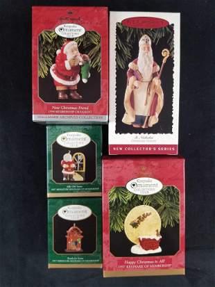 Hallmark Lot of 5 Classic Noel Ornaments