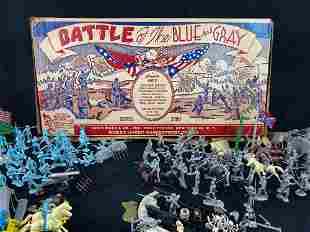 """1960 Marx """" Battle Of The Blue & Gray """" 200 Series Toy"""