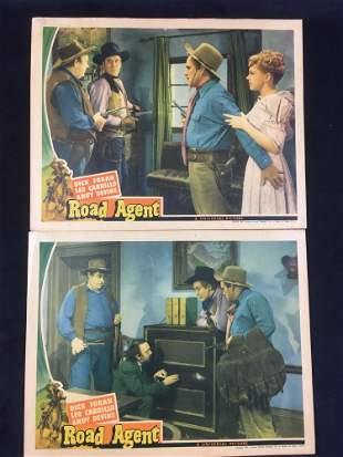 Set of 2 Road Agent Lobby Cards Memorabilia