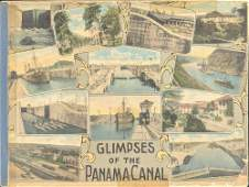 1915 Glimpses Of The Panama Canal Photo Book