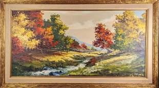 Original Buck McCain Framed Oil On Canvas Babbling