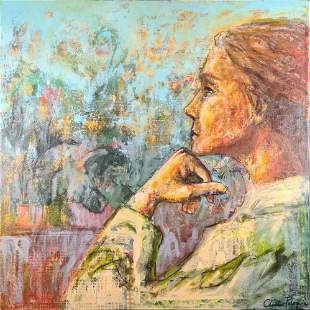 Christine Peloquin Original Mixed Media On Wood X1
