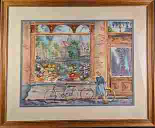 Original Framed Watercolor Bettye Paden Dutch Treat