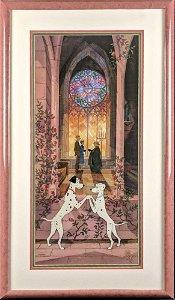 Rare Disney LE 101 Dalmatians Hand-Painted Cel W3
