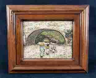 Vintage Mexican Relief Art of Bridge