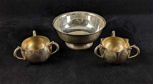 Vintage Gorham Silver Plated Bowl and Small bowls