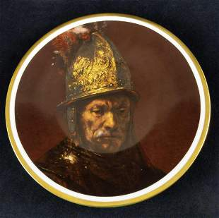 Heinrich Collectable Plate Man W The Gold Helmet