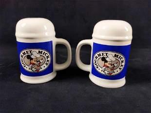Rare Disney Gourmet Mickey Salt And Pepper Shakers