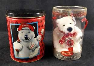 Coca Cola Polar Bear Watch Plush And Tin