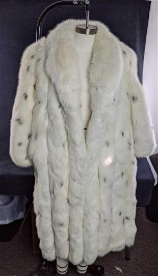 Christian Dior Vintage spotted Fox Fur Coat with