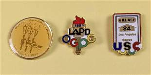 Lot Of Three Rare 1984 Los Angeles Olympic Games Pins