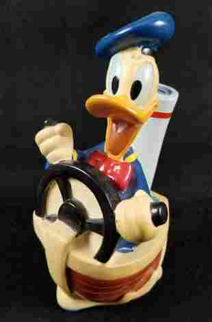 1994 Donald Duck Boat Toy Vinyl Coin Bank