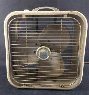 Vintage Penneys Brand Metal Box Three Speed Fan
