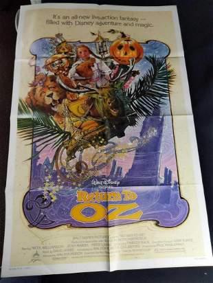 Vintage Disney Return To Oz Large Poster