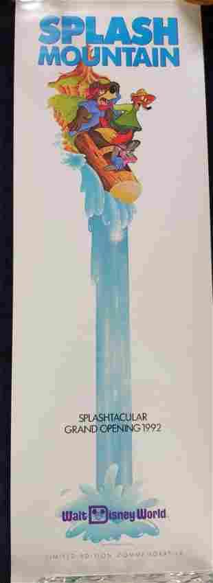 Disney World Vintage Splash Mountain Mini Poster A