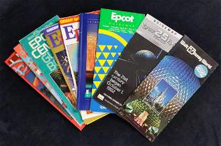 Ten Disney Epcot Guidebooks Maps Of The Past
