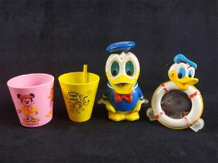 Vintage Collectible Donald Duck Items Lot of 4