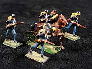 """Vintage 1"""" Miniature Civil War Hand painted Lead Union"""