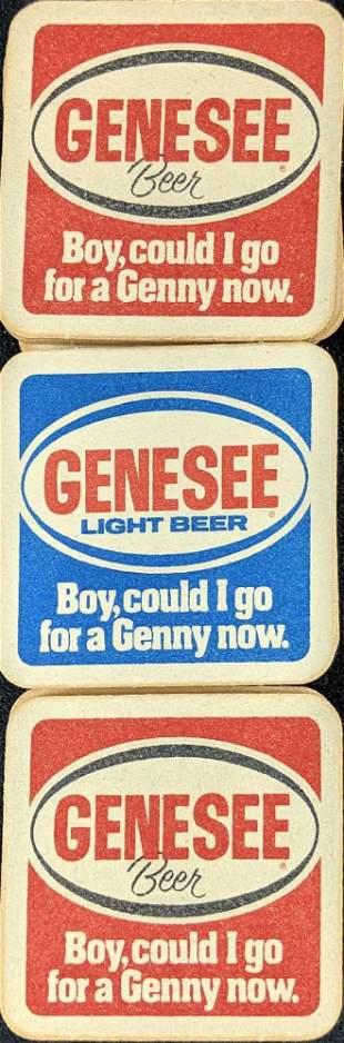 Vintage Genesee Beer Light Beer 2 Sided Coasters