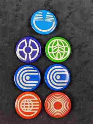 Original Epcot Symbol Vintage Pin Buttons Cast Member