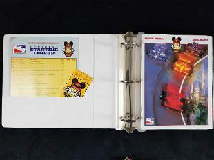 Disney Binder Of Official Programs From The Delphi Indy
