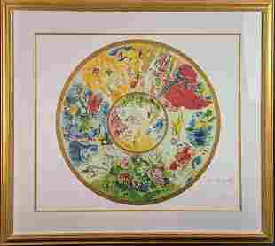 Framed Marc Chagall Paris Opera Ceiling Signed And