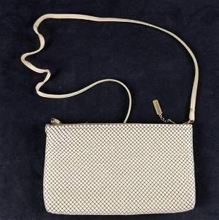 Vintage WHITING And DAVIS White Mesh Purse Handbag
