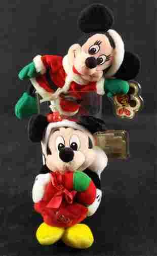 Disney Christmas Santa Mickey Minnie Mouse Beans