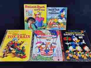 Vintage Disney Donald Duck Childrens Books Lot of 5