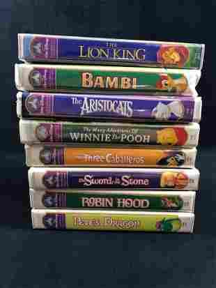 Lot Of 8 Walt Disney Masterpiece Collection VHS Bambi