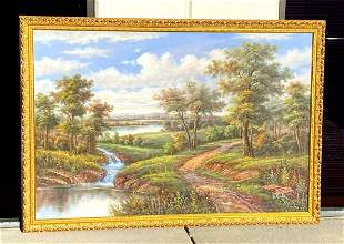 "Original C. Freeman Signed 48"" x72"" Oil On Canvas"