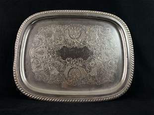 Kensington No 7860 Silver Plated Patterned Serving