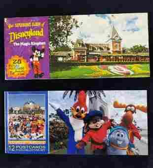 Vintage Disneyland Universal Studios Postcard Books