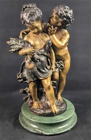 Secret By Auguste Moreau Bronze Sculpture X9