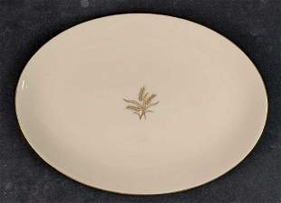 """17"""" Oval Serving Fine China Platter Wheat By LENOX"""