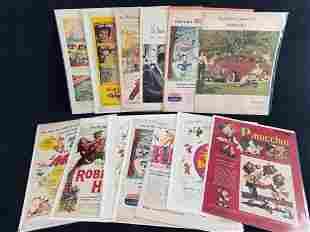 Lot Of 15 Vintage Walt Disney Newspaper Full Color