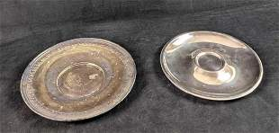 Two Vintage Silverplate Serving Plates