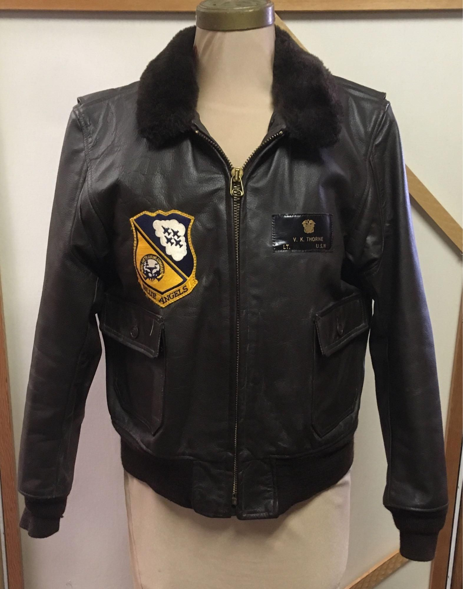 Authentic Named Blue Angels G1 Naval Flight Jacket