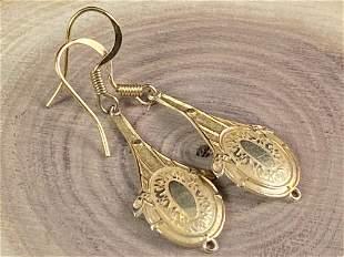 Vintage 14K Yellow Gold Dangle Earrings